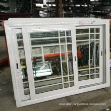 High quality upvc color profilebalcony burglar sliding window
