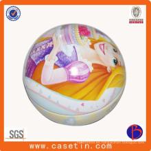 Bola de Navidad regalo promocional caja de estaño de la placa