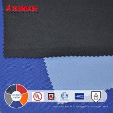 Tissu mélangé de coton nylon ignifuge pour vêtement de sécurité