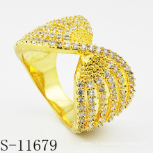 2015 Hot-Selling 925 Silver Fashion Gold Plated Ring Jewelry (S-11679)