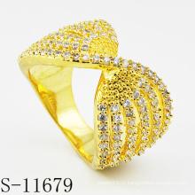 2015 Горячие продажи 925 Серебряная мода позолоченные кольца ювелирные изделия (S-11679)