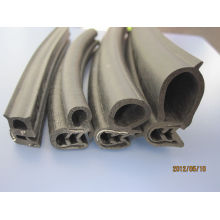 Epdm / Pvc Waterproof Door Rubber Seal Extruded High Elastic