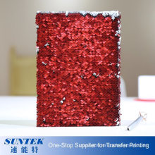 Amazon Hot Custom Magic Color Change Note Book Writing Pad Magic Sublimation Blank Sequin Notebook