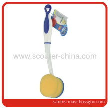 Kitchen Cleaning Sponge Brush With Handle