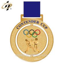 En alliage de zinc personnalisé 3d karaté homme métal défi médailles