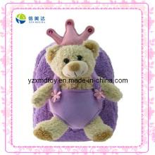 Purple Teddy Bear Custom Plush Backpack (XDT-0033Q)