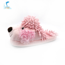 Pink winter indoor dog plush slippers kids