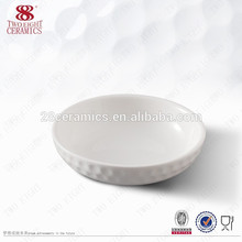 White ceramic Mini chafing cheap round butter dishes sauce plate