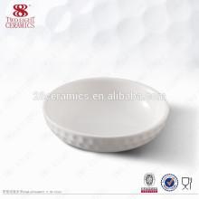 Cerâmica redonda branca de atrito barato redondo prato de molho de pratos de manteiga