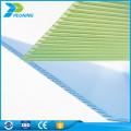 Chine fabrication fiable 4 mm double paroi polycarbonate compact pc feuille creuse