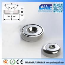 N40m D12.7X3.969mm Strong Neodymium Pot Permanent Magnet