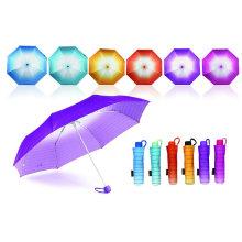 Streifen Rainbow Mini Aluminium Windproof Regenschirm (YS-3FM21083943R)