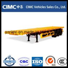 Heißer Verkauf Cimc 3 Achse 40FT Flachbett-Container-Auflieger Kenia