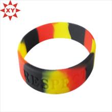 Eco-Friendly Silikon Armband Relief und Farbe gefüllt (XY-MXL72903)