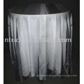 100 % polyester nappe et Organza Table Overlay, hôtel/Banquet Table couvrir
