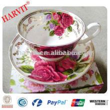Nuevo producto China Proveedor Tazas de café y platillos antiguos / Bone China Tazas de té y platillos / Tazas de té y platillos reales