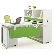 Escritorio de la materia para el diseño de la oficina, perla blanca hermosa + verde del loro, muebles de los muebles del escritorio de la oficina (JO-5009-1)