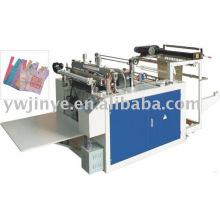 Embalamento automático & calor-corte colete saco que faz a máquina