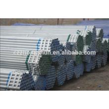 Tuyau en acier galvanisé en Chine / tuyau galvanisé sans soudure / tuyau galvanisé ERW / BS1387-1985 / Q235 / SS400