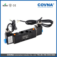 Double Head Port Size M5*0.8 lead type with White led pneumatic solenoid valve