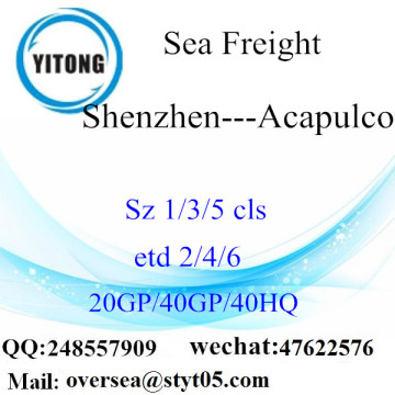 Shenzhen Port LCL Consolidation To Acapulco