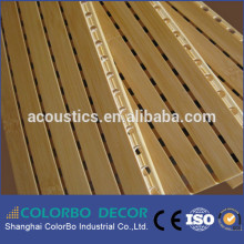 Multifunctional flame retardent melamine wooden grooved laminate acoustik wall covering