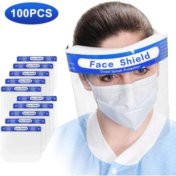 Escudo de seguridad transparente ligero con banda elástica