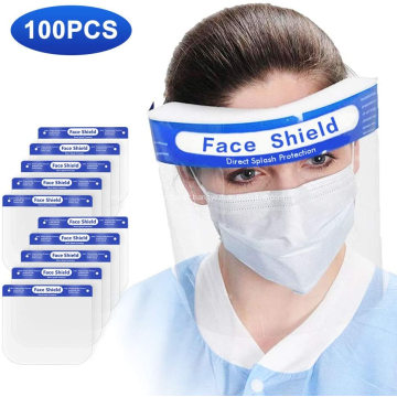 Escudo de segurança transparente leve com elástico
