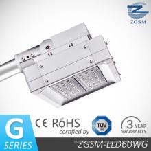 60W alta eficiente LED luz de calle con CE/RoHS por TUV