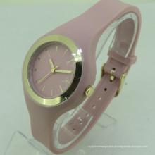 Design de Genebra de moda ocidental logotipo de impressão simples relógio de Genebra