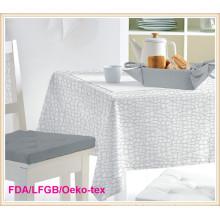 Toalha de mesa impressa branca de PEVA com Nonwoven 2 camadas