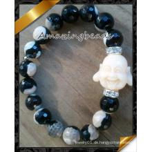 Feuer-Achat-Korn-Schmucksachen Wite Buddha-Charme-Art- und Weisearmband (CB072)