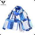 2016 Lady′s Luxury Style Colorful Irregular Geometry Printed Silk Scarf