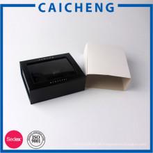 Magnetische Pappschachtel des kundenspezifischen Logos mit Fenster / eingewickelter Papierhülse