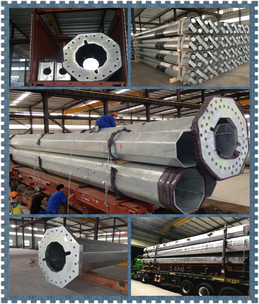 12M 14M Galvanized Power Pole For Electric