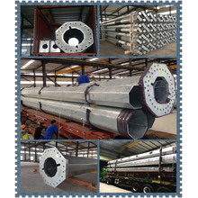 Reliable for Electric Power Poles, Terminal Steel Electric Pole Wholesale From China 12M 14M Galvanized Power Pole For Electric supply to Spain Factory