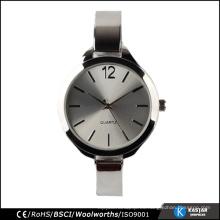 Relojes de mujer reloj de pulsera de cuarzo modelo 2015 damas de plata