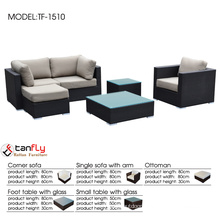 Sleek and modern patio furniture sofa sectional couch set.