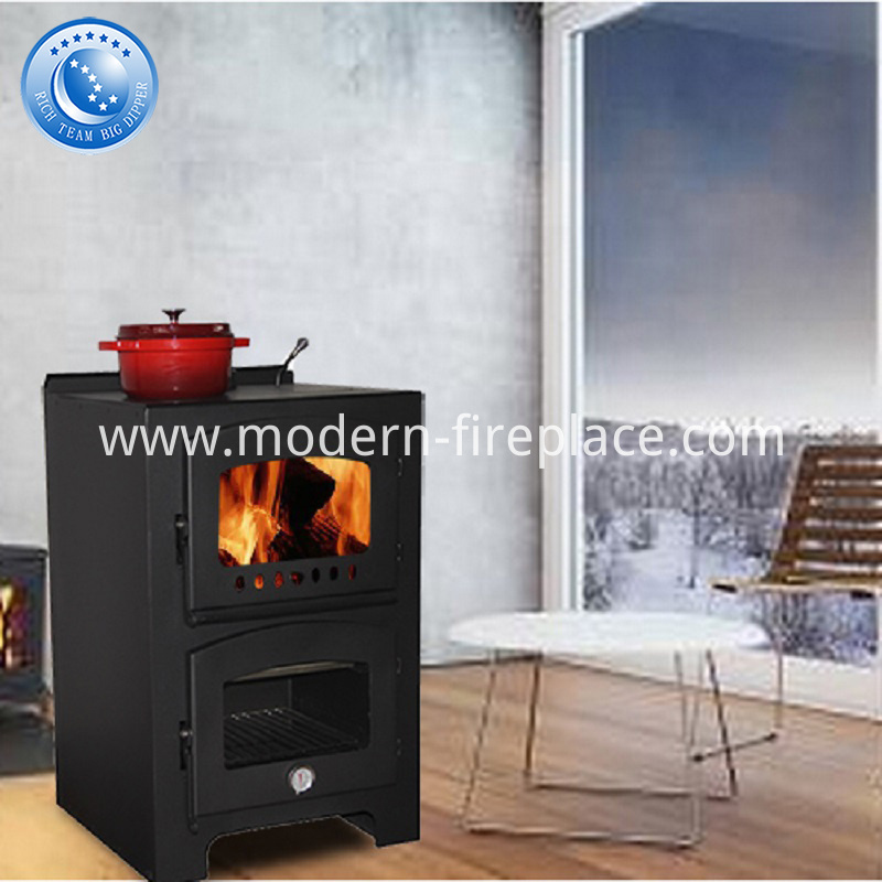 Wood Burning Steel Fireplace