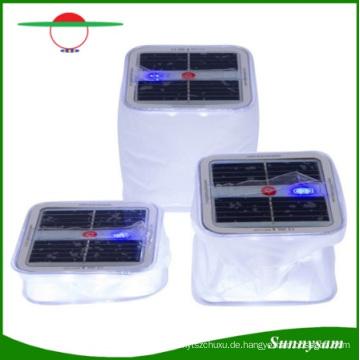 Sunnysam neueste Innovation bewegliches wasserdichtes faltbares aufblasbares freies PVC-Solarlaterne 10 LED-kampierendes Licht