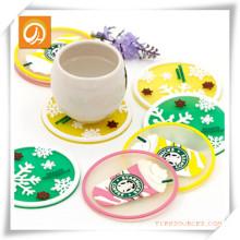 Práctico de costa transparente de Starbucks / estera de la taza / mantel individual para la promoción