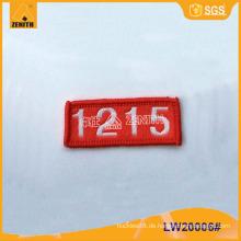 Gewebter Etikett für Kleidung LW20006