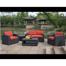 Sofa Set 4PC Outdoor Furniture Couch Padded