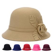 Мода леди ручной работы цветок хлопок трикотажные зимние ковш Hat (YKY3247)