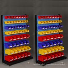 Bac en plastique de stockage pour des supports de palette / bacs de stockage en plastique économiques