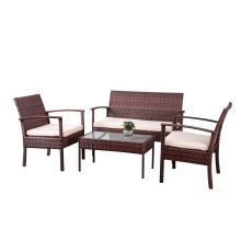 Reliable for Best Patio Furniture Sets,Outdoor Patio Furniture,Garden Table And Chairs Manufacturer in China 4pc Rattan sofa  furniture set export to Panama Suppliers