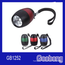 6LEDs Egg Shaped Aluminium Alloy Flashlight