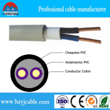 Flat Cable BVV Solid Conductor PVC Insulation PVC Cable