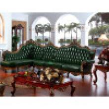 Античная кожаный угловой диван (ЖЛ-с d803)