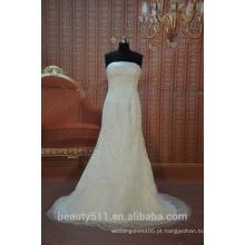 EM STOCK Off-The-Shoulder Vestido de noiva vestido de noiva Vestido de noiva com piso de comprimento SW07